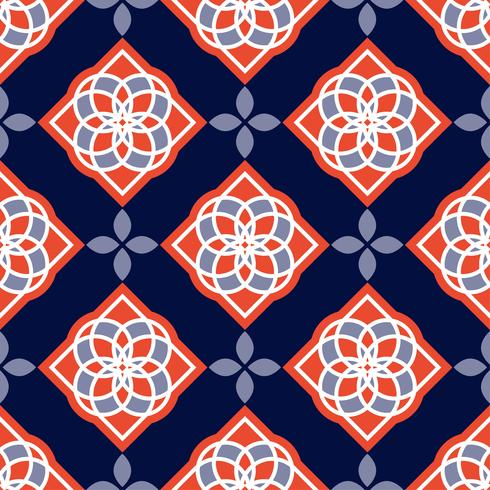 Portuguese azulejo tiles. Blue and white gorgeous seamless patterns.  vector