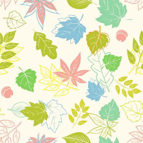 naadloze textuur van lente bladeren