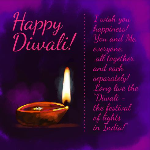 Fête de Diwali vecteur