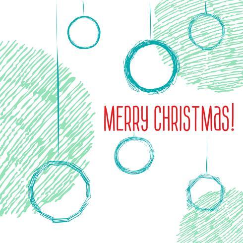 Croquis de style dessiné à la main de boules de Noël