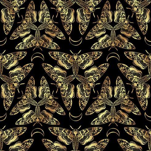 Muerte de mariposa cabeza halcón polilla de patrones sin fisuras