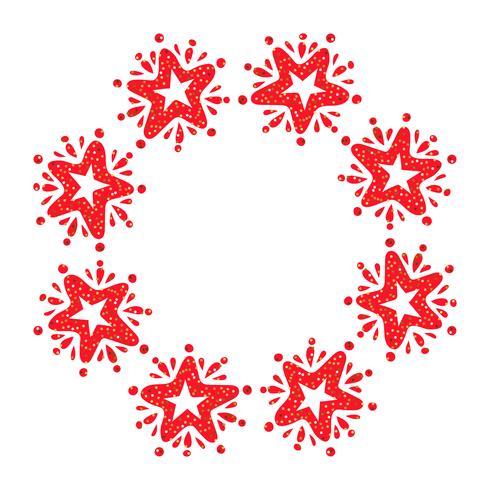 Guirnalda de la estrella de la Navidad aislada en el fondo blanco vector