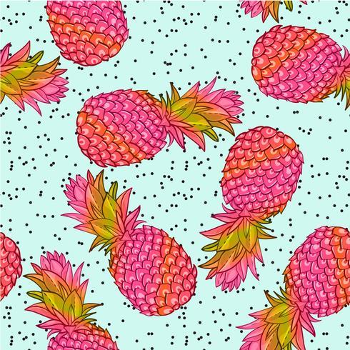 Ananas kreativa trendiga sömlösa mönster vektor