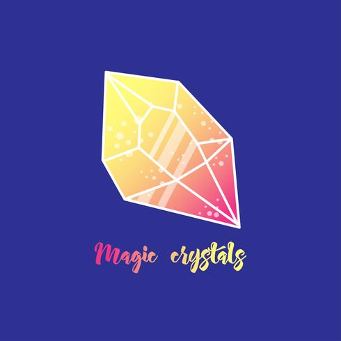 Magic crystals of pyramidal shape. vector