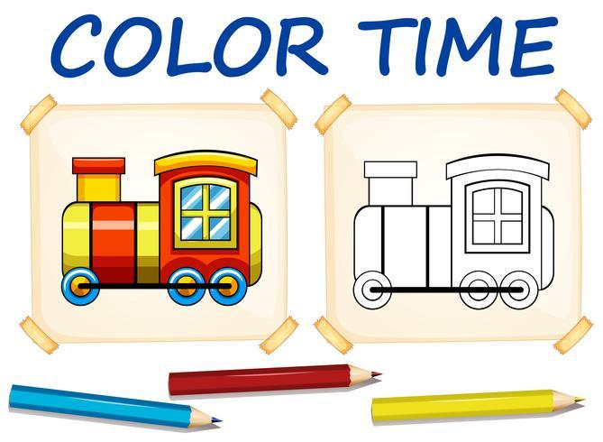 Modello da colorare con il treno