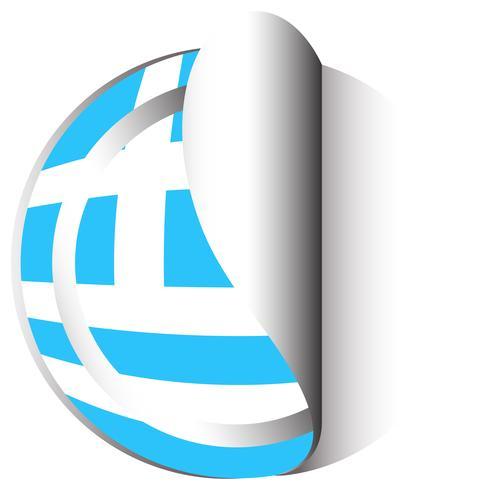 Stickerontwerp voor vlag van Griekenland