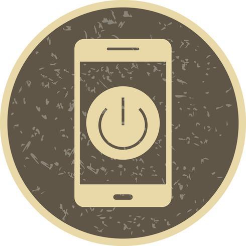 Desligue o ícone de vetor de aplicativo móvel