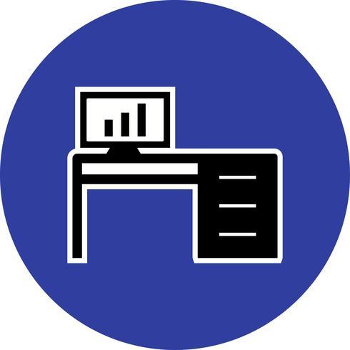 Kantoor tafel Vector pictogram