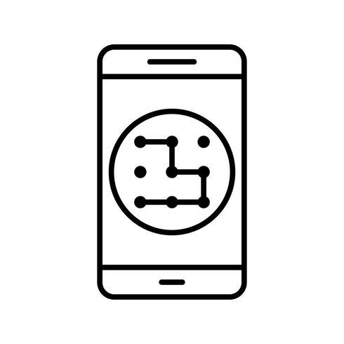 mönster mobil applikation vektorikonen