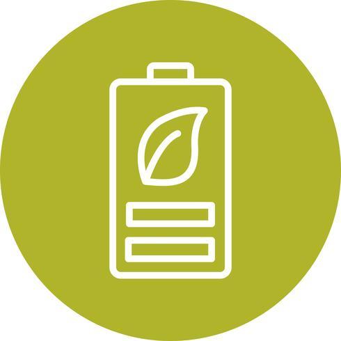 Icona di vettore di batteria eco