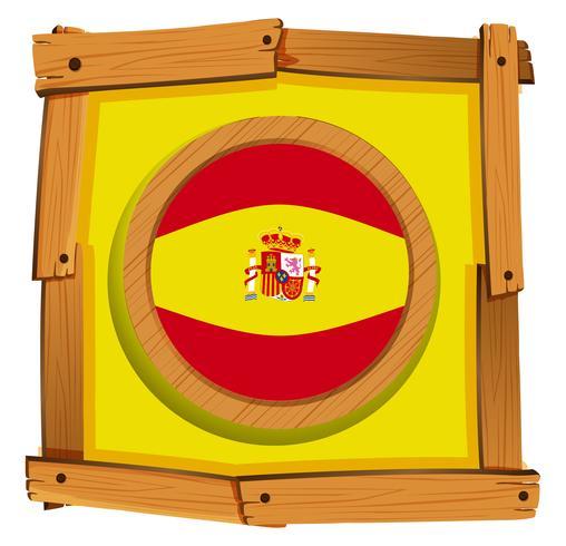 Bandiera della Spagna sul distintivo rotondo