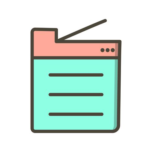 Copier Machine Vector Icon