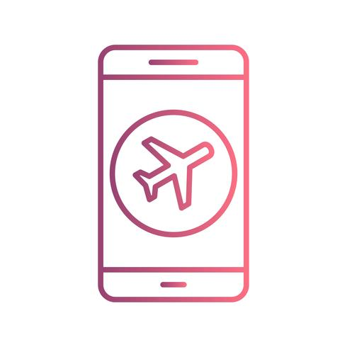 Flygplan Mobile Application Vector Icon