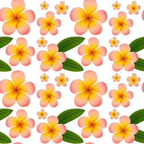 Fondo inconsútil con las flores rosadas del plumeria vector