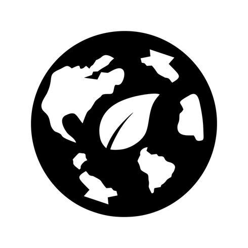 icône de vecteur éco monde