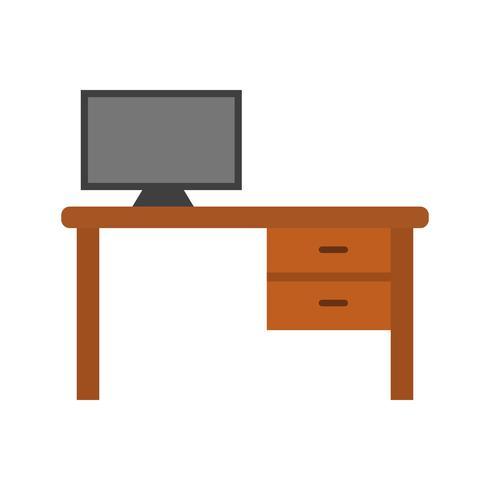 Icono de Vector de mesa de oficina