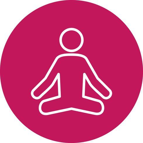 Vector Yoga pictogram