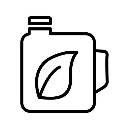 Eco olie vector pictogram
