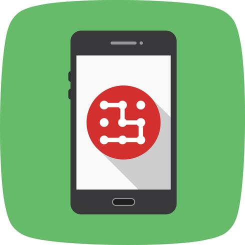 Modèle Mobile Application Vector Icon