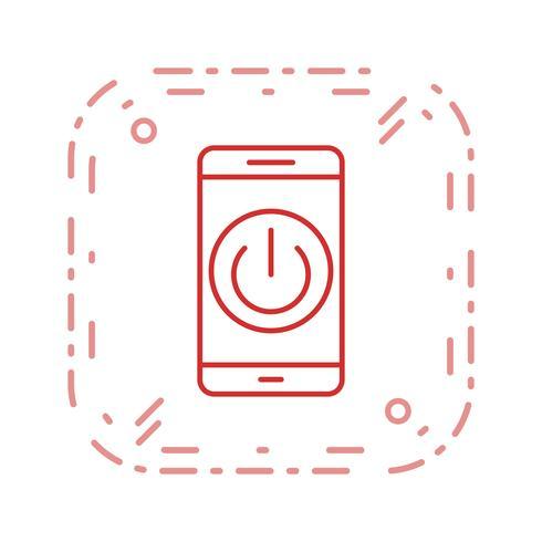 Uitgeschakeld Vectorpictogram mobiele applicatie