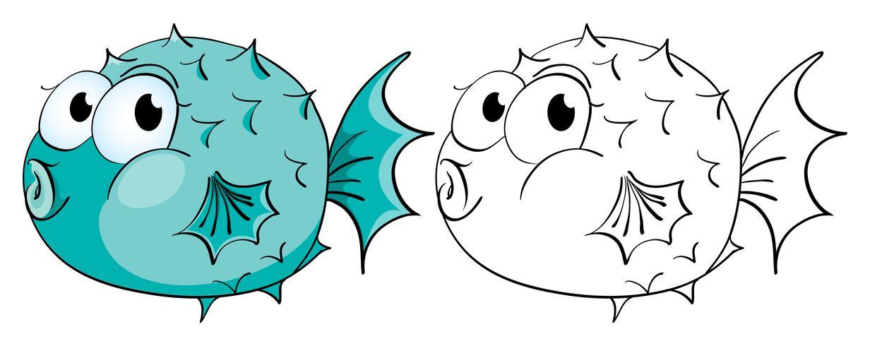 Contour des animaux pour le poisson-globe