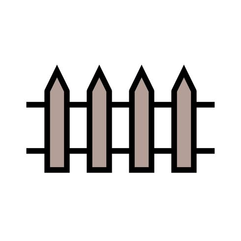 Icona di vettore del recinto