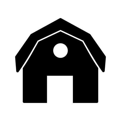 Grange, vecteur, icône