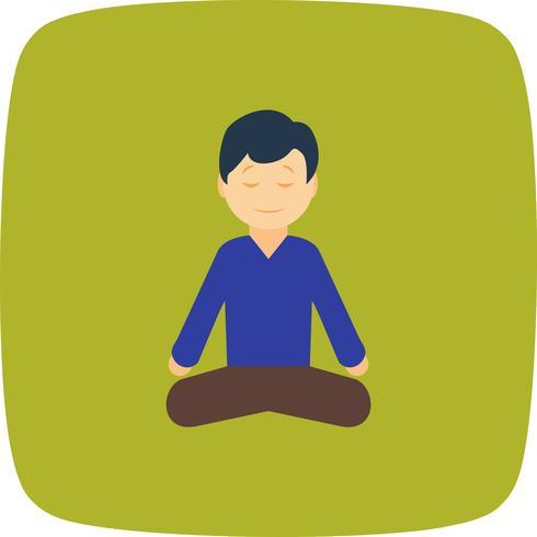 Icône de yoga de vecteur