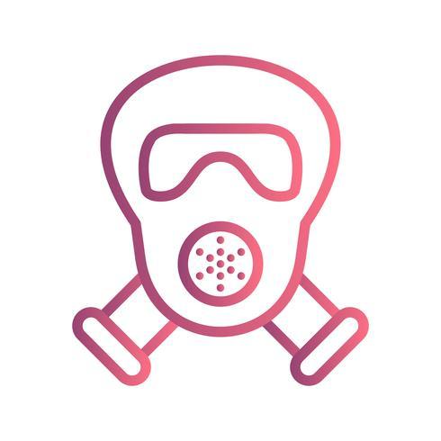 Gasmask Vektor Ikon