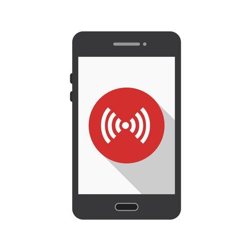 Hotspot mobil applikationsvektorikon