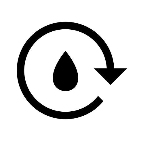 Icono de Vector de reciclaje de agua