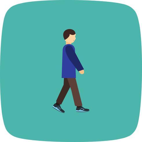 Vector andando ícone