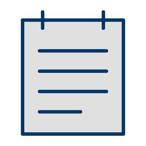 Ícone de vetor de bloco de notas