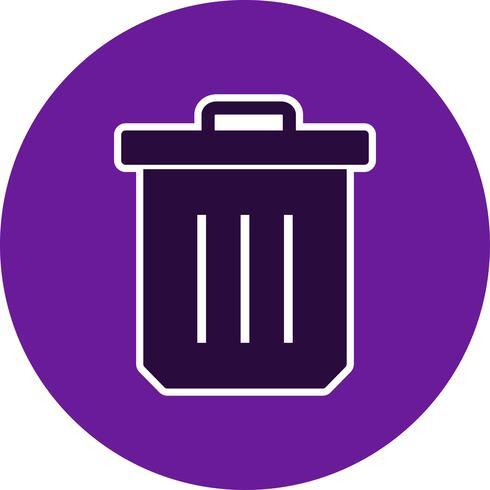 Icona del vettore di rifiuti