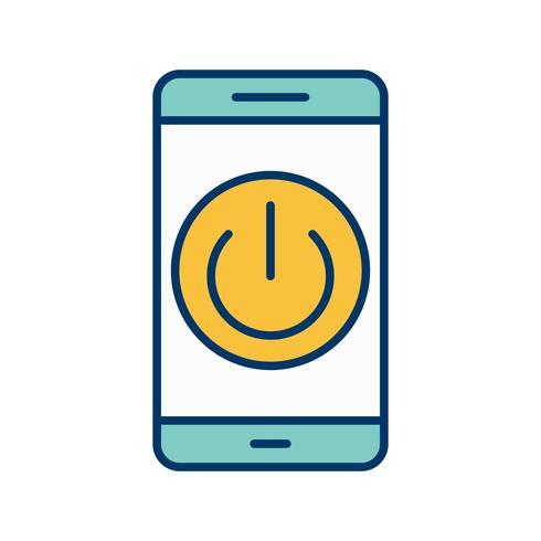 Apagar el icono de Vector de aplicación móvil