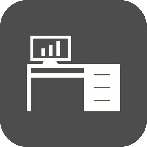 Ícone de vetor de mesa de escritório