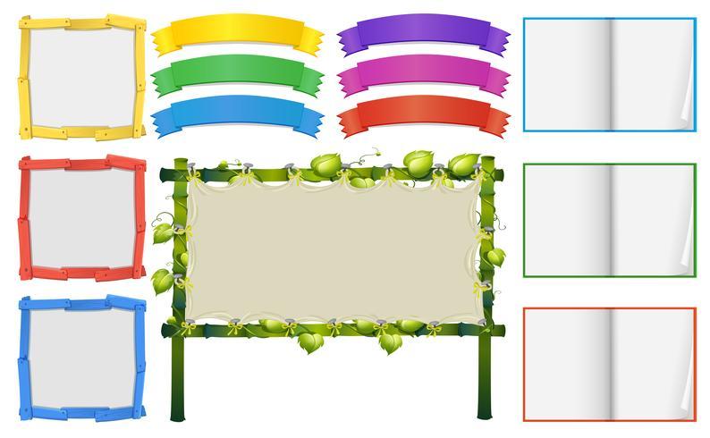 Verschiedene Rahmen- und Bannervorlagen