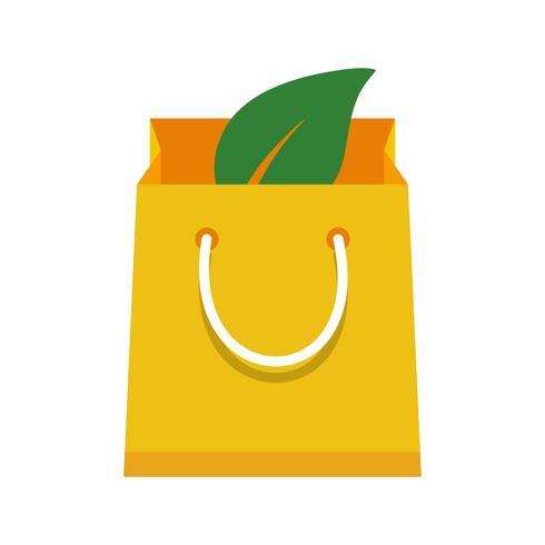 Icona di vettore di borsa eco