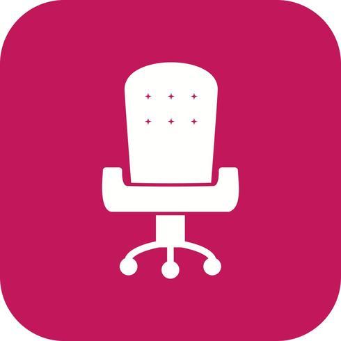 Ícone de vetor de cadeira de escritório