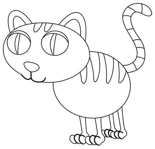 Esquema animal para gatito.