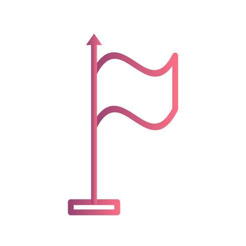 Flagga vektor ikon