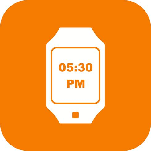 Icône de montre intelligente de vecteur