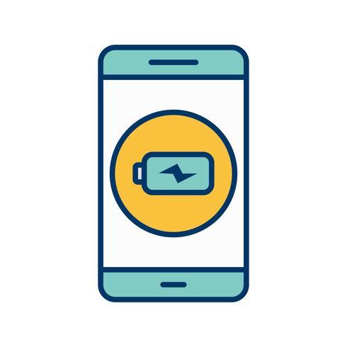 Mobile Anwendungsvektor-Ikone aufladen