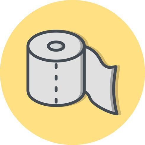 Ícone de vetor de papel higiênico