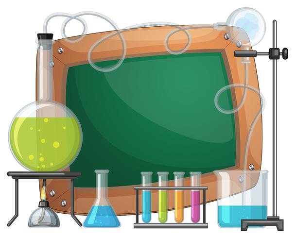 Board-Vorlage mit Chemikalie in Bechern