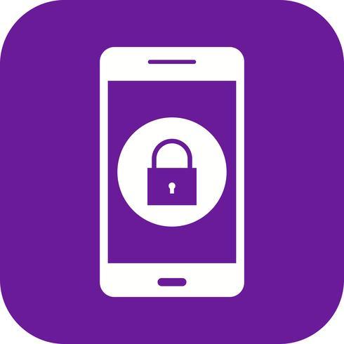 Bloccare l'icona di vettore dell'applicazione mobile