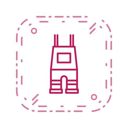 Icona di vettore di salopette