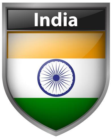 Conception d'icône de drapeau pour l'Inde