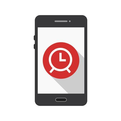 Icona di vettore di applicazione mobile allarme