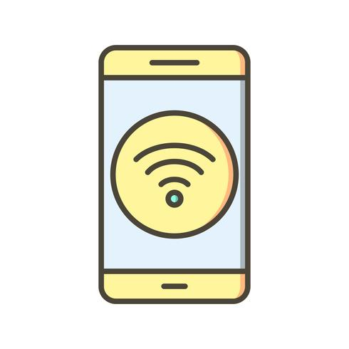 Icona di vettore dell'applicazione mobile WiFi